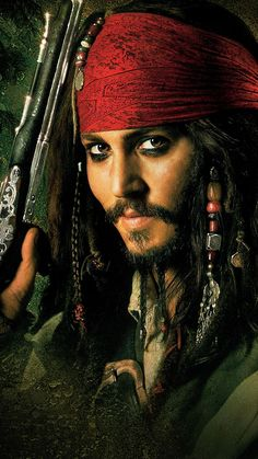 Johnny Depp as Captain Jack Sparrow in Pirates of the Caribbean: The Curse of the Black Pearl Jack Sparrow Drawing, Jack Sparrow Tattoos, Jack Sparrow Quotes, Sparrow Art, Johnny Depp Wallpaper, Captain Jack Sparrow, Jony Depp, Jack Sparrow Wallpaper, Johnny Depp Pictures