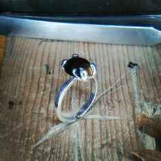 Anillo en plata .925 con gema de ojo de tigre sudafricano / U$ 65°°