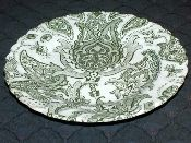 Johnson Brothers Paisley Green Bread-Butter Plates