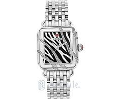 I don't think I've ever seen a diamond watch in Zebra print before.