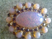 Vintage Avon Costume Jewelry Opal and Amythest Brooch by kathryntm, $5.00