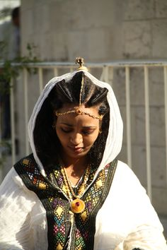 A bride in a Wedding @ the Ethiopian Church, Jerusalem, Israel
