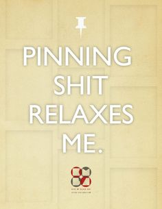 Pinning is calming