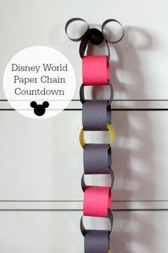 Disney World Vacation Paper Chain Countdown