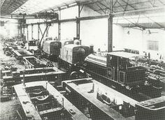 A view of the erecting shop of the Avonside Engine Company taken in the early century. Thomas The Tank, Rolling Stock, Steam Locomotive, Exeter, Bristol, Trains, Toronto, Engineering, Bath