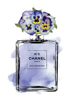 *You are purchasing a digital file only*Chanel print with purple water colour and pansies Files are 300 dpi, excellent quality for Estilo Coco Chanel, Chanel Wallpapers, Chanel Poster, Flower Art Images, Parfum Chanel, Image Deco, Illustration Mode, Pansies, Printable Art