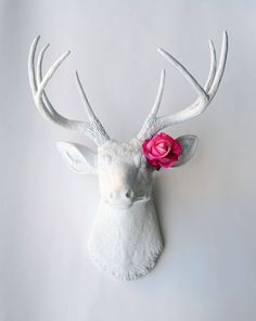 Flower Accessory  Actual Touch Pink Rose by WhiteFauxTaxidermy, $7.50