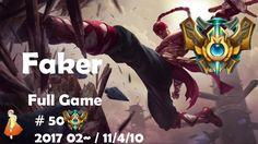 Challenger Full Game #50 Faker