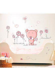 Autocolantes Teddy bear<BR>Rosa
