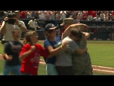 [VIDEO] U.S. Airman Surprises Family on Field at Atlanta Braves Baseball Game  |  Master Sgt. Dave Sims returns home from Afghanistan and surprises his wife and children at Turner Field during the 5th inning of a Cardinals-Braves game!