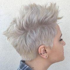 Ash Blonde Pixie Fauxhawk