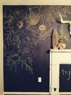 Wall flower painting