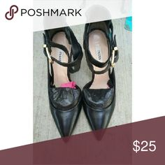 Black High Heels by Guess Only worn 3 hours. Shoes in Perfect Condition. Make an offer! :) Guess Shoes Heels
