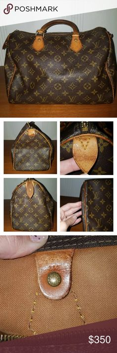 Authentic Louis Vuitton Speedy 30 Vintage Louis Vuitton handbag from the late 70s. Clean interior. Marks and discoloration on leather. Tabs are hard. Zipper pull is supple. Leather has a dark honey colored patina. Louis Vuitton Bags Satchels