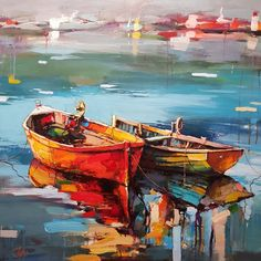 Ship Paintings, Seascape Paintings, Landscape Paintings, Pictures To Draw, Art Pictures, Gcse Art Sketchbook, Boat Art, Boat Painting, Acrylic Painting Techniques