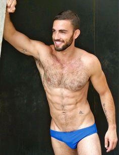 Blue speedos Hairy Hunks, Hairy Men, Bearded Men, Men's Underwear, Andre Hamann, Boxer, Hommes Sexy, Shirtless Men, Movember
