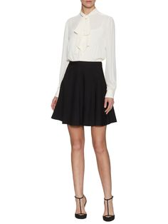 Noelle Contrast Neck-Tie Dress by Cynthia Steffe at Gilt