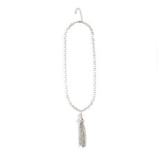 "Love this! Found it on Journey Accessories Priscilla is everything that's on trend: lengthy, vintage-inspired, and shimmering with bold tassels. This sexy little number features a pop of with a CZ-emblazoned silver ball. Priscilla will layer beautifully but is just as fabulous solo.  - Silver tone metal, glass crystals and clear CZ's - 24"" long - Lobster clasp closure Item # BSH30001092 $66"