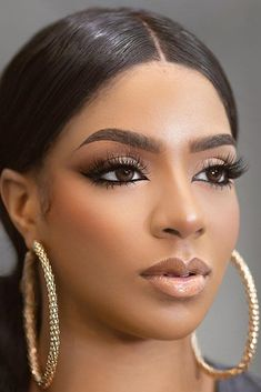 We have collected gorgeous black bride makeup ideas. In our gallery you will find makeup variety for different wedding styles. Black Wedding Makeup, Summer Wedding Makeup, Best Wedding Makeup, Wedding Makeup Looks, Day Makeup, Makeup Ideas, Makeup Designs, Bride Makeup Natural, Black Girl Makeup Natural