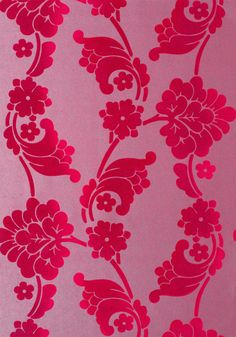 VELVET JACQUARD, Pink, AT10101, Collection Wild Flora from Anna French