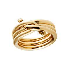 Anillo Entrelazado de Oro Amarillo de 18K, $3,350 | 25 Anillos de Compromiso Impresionantes que no están Hechos con Diamantes