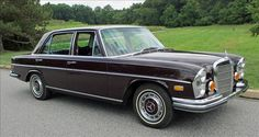 1972 Mercedes Benz 280SE in dunkelrot 542.  Great car and a beauty.  Pleasure to own.