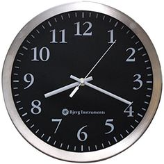 Bjerg Instruments Modern 12\ Stainless Silent Wall Clock with Non Ticking #BjergInstruments