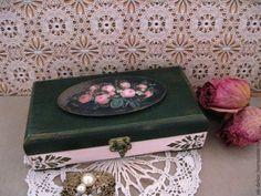 Купить Шкатулка Английские розы - шкатулка, шкатулка для украшений, шкатулка…