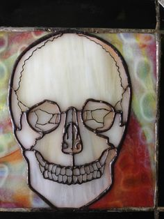 Anatomically accurate Stained Glass Skull