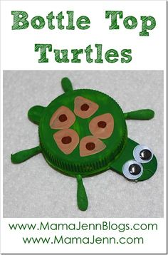 Bottle Top Turtle Craft