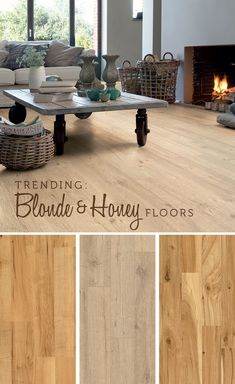 Honey & blonde floors are catching our attention. | Quick•Step Style Blog #trending
