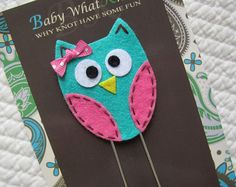 Extra LARGE Paperclip Bookmark, Blue Owl Bookmark, Felt Bookmark, Paperclips, Jumbo Paper Clip, Filofax, Planner Clips, Calendar, bmowl22