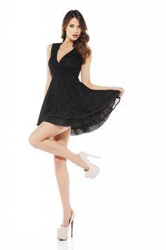 f6a56fd9061 I found  AX Paris Wrap V Front Lace Kickout Dress  on Wish