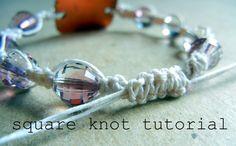 DIY Shamballa style macrame bracelet tutorial