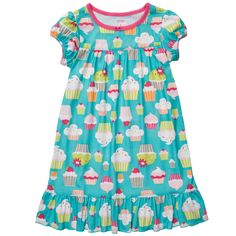 """cupcake print nightgown for """"sweet"""" dreams. #carters"""