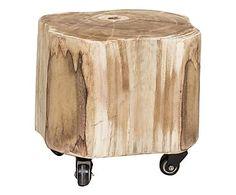 Sgabello in legno Woodland naturale, 34x34x34 cm