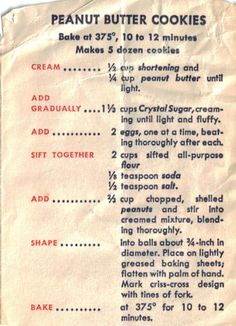 vintage recipes with pictures at DuckDuckGo Galletas Cookies, Candy Cookies, Cookie Desserts, Yummy Cookies, Cookie Recipes, Dessert Recipes, Delicious Desserts, Retro Recipes, Old Recipes