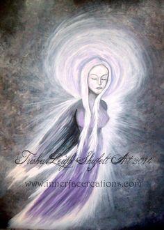 Angel of Illumination (Spirit of Illumination) (c) 2014 Trisha Leigh Shufelt Art http://trishaleighart.blogspot.com/