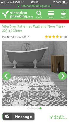 Family Bathroom, Wall And Floor Tiles, Wall Patterns, Bath Mat, Victorian, Flooring, Home Decor, Bathroom, Decoration Home