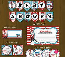 e9366fdbeb2 Dr Seuss Printable Baby Shower Package - Cat in a Hat Baby Shower DIY Set  sold by Splashbox Printables. Shop more products from Splashbox Printables  on ...