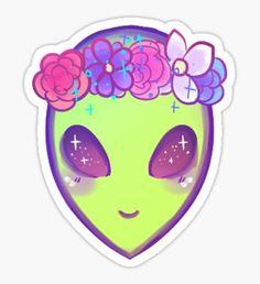 cool alien Pegatina