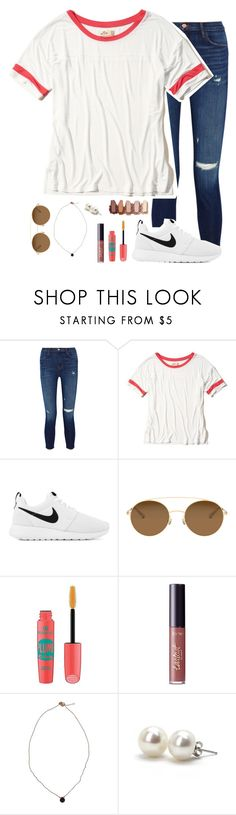 """""""Happy Memorial Day!! Thank you to everyone❤️🇺🇸"""" by simplyytorii ❤ liked on Polyvore featuring J Brand, Hollister Co., NIKE, Mykita, Essence, tarte and Bounkit"""