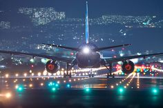 Night Flight, awesome image checkout the glowing engines