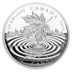 1 oz. Fine Silver Coin - Maple Leaf Reflection - Mintage: 8,500 (2015)