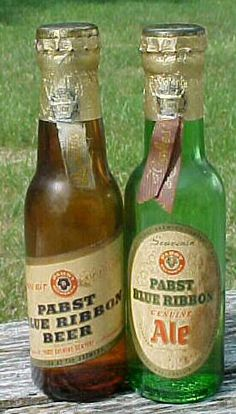 Two 1940 Pabst Blue Ribbon Ale & Beer by Bottlessoldcheap on Etsy, $30.00