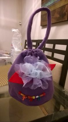 Loot bags for the little girls.  Me and my friend made it!