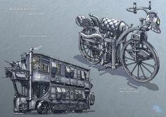 Railway Refuge – Vehicles, Francis Goeltner on ArtStation at https://www.artstation.com/artwork/2yzNa