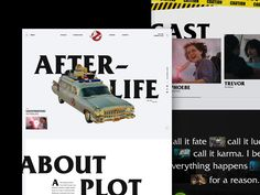 Unofficial Website design for Ghostbusters Afterlife. #webdesign #design #ui #website #interface #ux #interaction #development #marketing #uxdesign #uidesign #landingpage #behance #dribbble #art #gb #ghostbusters #movies #cinema #80s #90s Web Design, Site Design, Ghostbusters, Marketing, Design Inspiration, Shit Happens, Behance, Life, Art