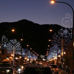 Cant wait!!! Downtown Gatlinburg, TN...dressed for Winterfest.