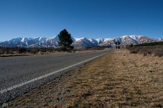 Canvas Print - Open Spaces, Empty Road - Maniototo, Central Otago, New Zealand. Empty Road, Central Otago, Turn Off, New Zealand, Country Roads, Canvas Prints, Open Spaces, Mountains, World